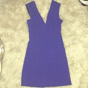 Zara woman navy blue cocktail dress